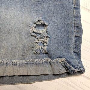 Celebrity Pink Shorts - Celebrity Pink Light Wash Distressed Denim Shorts